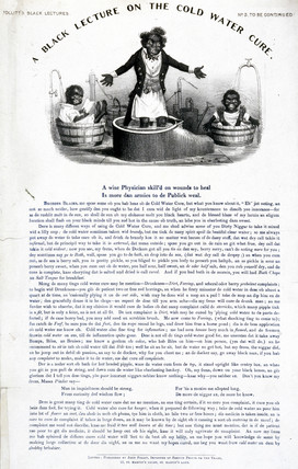 'A Black Lecture on the Cold Water Cure', c 1880.