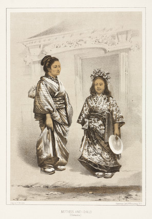'Mother and Child, (Simoda)', c 1853-1854.