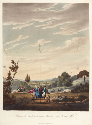 'Charvolants travelling in various directions with the same Wind', 1827.
