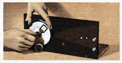 'How to build a two valve set', No 5, Godfrey Philips cigarette card, 1925.