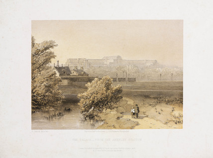 The Crystal Palace from Anerley Station, c 1855.