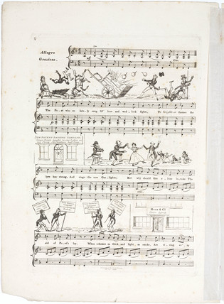 'Bubbles, a new comic song written for private parties...', London, 1824.