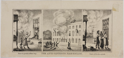 'The anti-ignitious fire escape', mid 19th century.