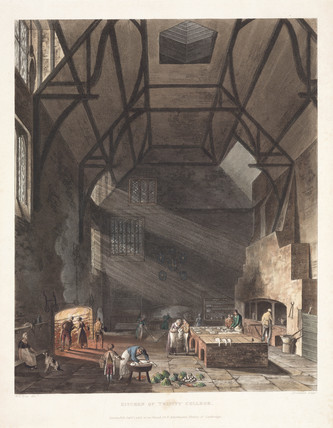 'Kitchen of Trinity College', Cambridge, early 19th century.