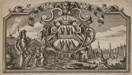 'Insignia Zoltensis', promotional print, 18th century.