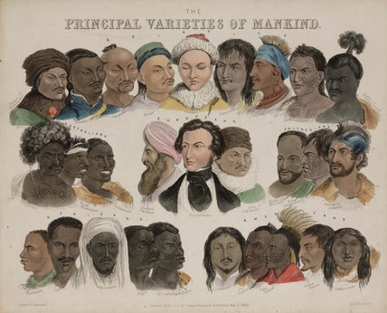 'Principal Varieties of Mankind', 3 May 1850.
