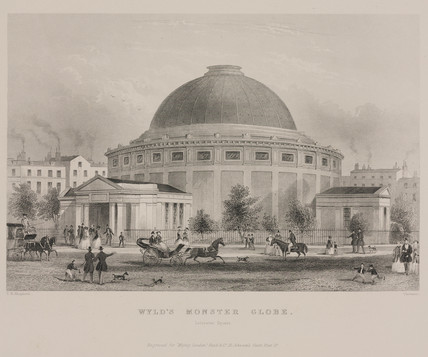 Wyld's Monster Globe, Leicester Square, London,  1851-1862.