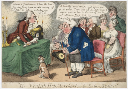 'The Kentish Hop Merchant and the Lecturer on Optics', 1809.