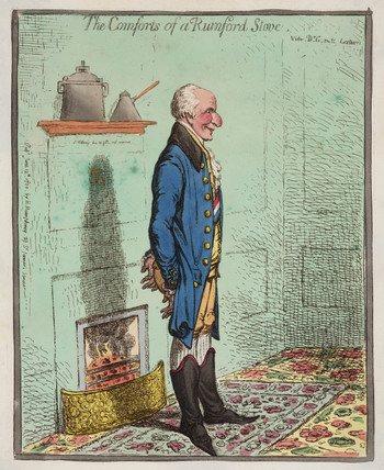'The Comforts of a Rumford Stove', 1800.