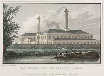 'Gas works, near the Regent's Canal', London, 1826.