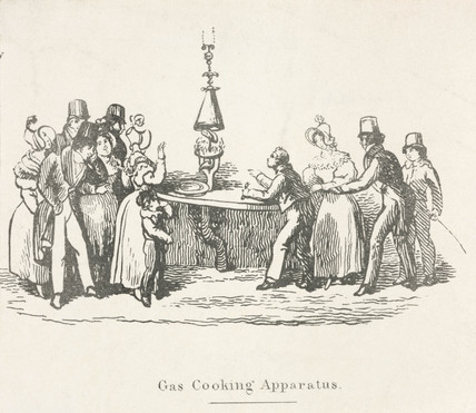 'Gas Cooking Apparatus', c 1825-1850.