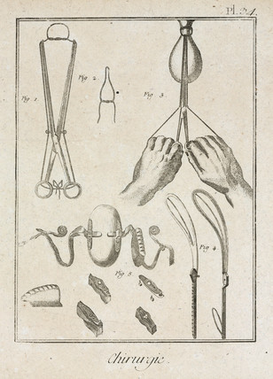 Surgical instruments and devices, 1780.