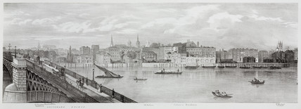 From Southwark Bridge to St Michael Cornhill, London, 1825.