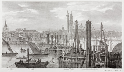 From Old Swan Stairs to London Bridge, London, 1825.
