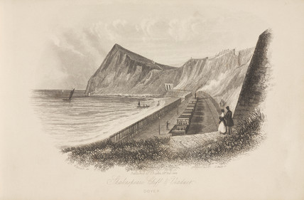 'Shakespeare Viaduct and Cliff, Dover', Kent, 23 February 1844.