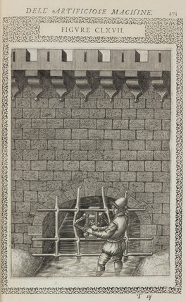 Device for forcing apart the iron bars of a grating, 1588.