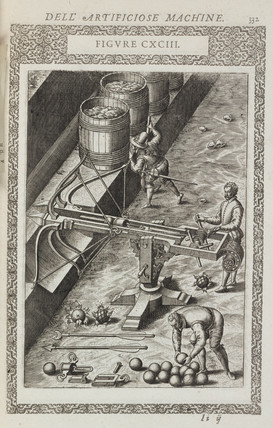 Ballista, or crosbow for projecting heavy misiles, 1588.