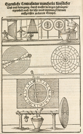 Water-powered clocks, 1548.