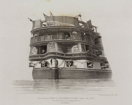 Stern of the HMS 'Asia', 1829.