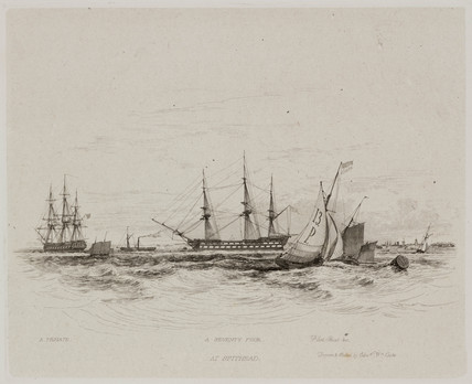 'A Seventy Four at Spithead', 1829.