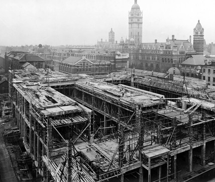 Construction of the East Block, Science Museum, London, 22 May 1916.
