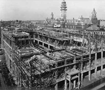 Construction of the East Block, Science Museum, London, 14 September 1916.