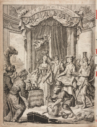 Presentation of gifts from Asia, 1712.