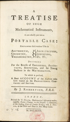 Robertson's 'Mathematical Instruments', 1747.