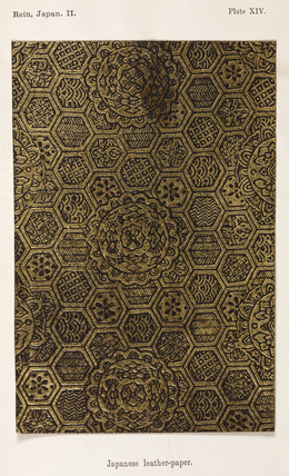 Japanese leather-paper, 1869.