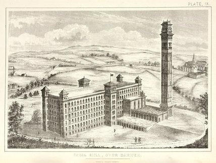'India Mill, Over Darwen', 1873.
