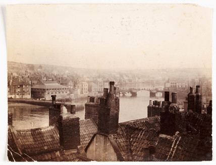 View over rooftops from Spion Kop, c 1900.