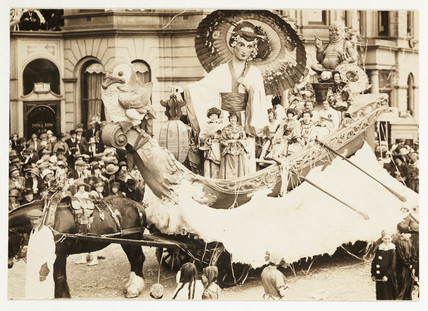 Blackpool carnival float, c 1924.