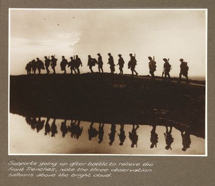 'Supports going up after battle...', c 1917.