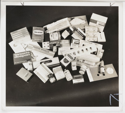 Sample drugs sent to doctors, 1962.