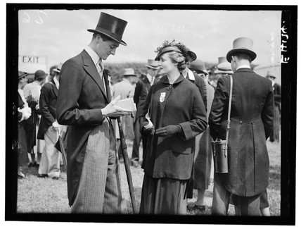 Racegoers at the Derby, 1935.