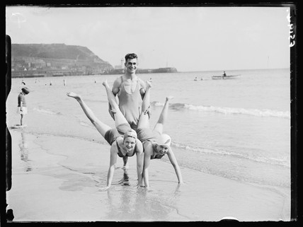 Beach fun and games, 1937.