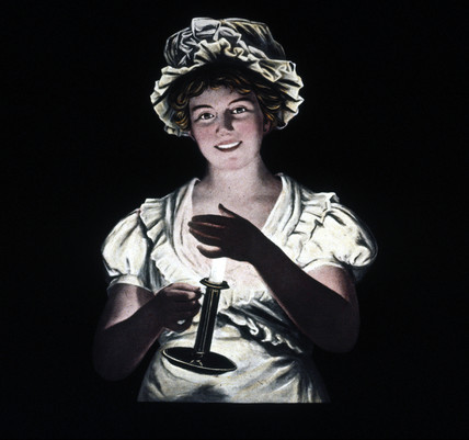 Woman holding a candle, mid 19th century