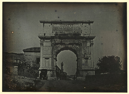 'Rome, The East side of the Triumphal Arch of Titus, from the road', 1841.