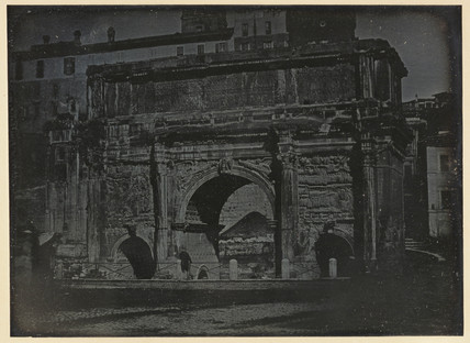 'Rome, the East side of the Triumphal Arch of Septimus Severus...', 1841