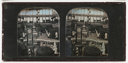 Stereo-daguerreotype of the Crystal Palace, Sydenham, 1855.
