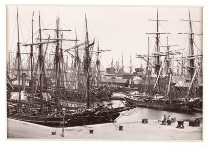 'The Bute Docks, With Shipping', c 1880.