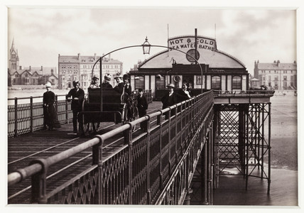 'Rhyl, View on the Pier', c 1880.