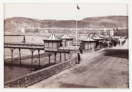 'Aberystwyth, Marine Terrace and Entrance to Pier, No 2', c 1880.