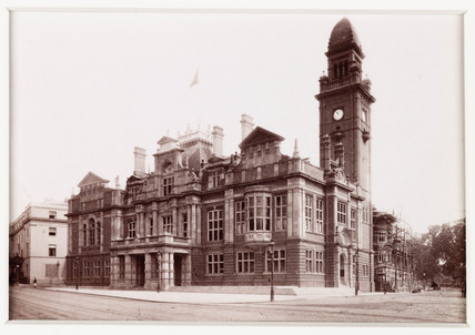 'Leamington, The Town Hall', c 1885.