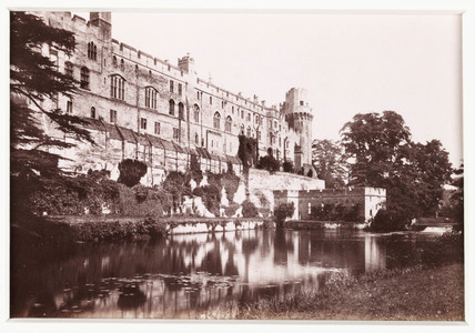 'Warwick Castle, the River Front', c 1880.