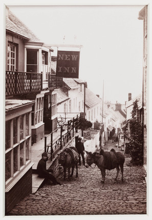 'Clovelly, The New Inn', c 1880.