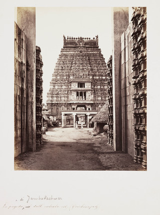 Hindu temple, Tamil Nadu, India, c 1865.