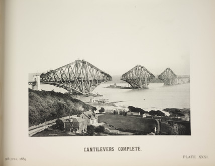 'Cantilevers Complete', 1889.