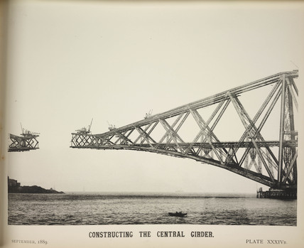 'Constructing The Central Girder', 1889.