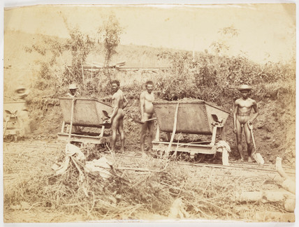 Panama Canal workers, c 1885.